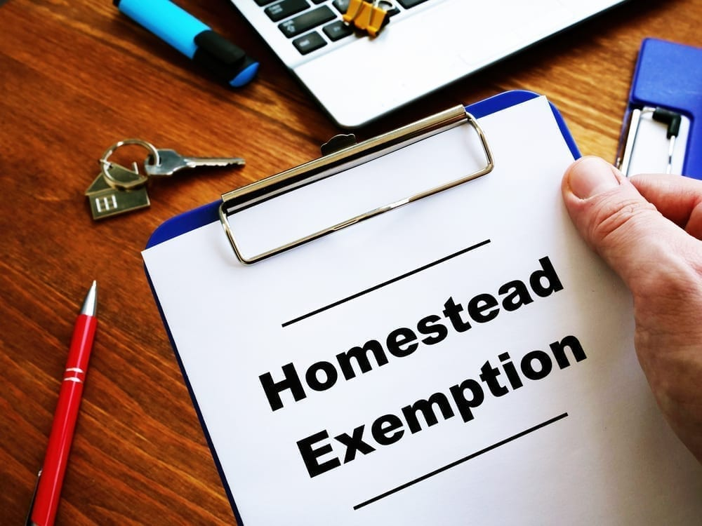 Homestead Exemption in California AB 1885